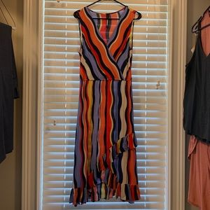 Colorful light weight dress from Anthropologie